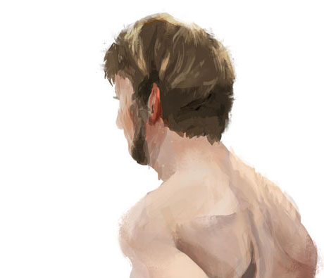 nude guy from the back